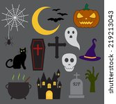 halloween icon | Shutterstock .eps vector #219213043