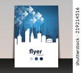 flyer or cover design  ...   Shutterstock .eps vector #219214516
