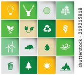 Ecology Icon Set Clean Vector