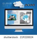 layout magazine  vector  | Shutterstock .eps vector #219220024