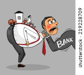 man is the debtor to pay the... | Shutterstock .eps vector #219228709