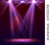 spotlight on stage with smoke... | Shutterstock .eps vector #219232258