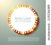 abstract retro light banner.... | Shutterstock .eps vector #219236389