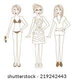 summer girl  | Shutterstock . vector #219242443