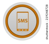 sms circular icon on white... | Shutterstock . vector #219248728