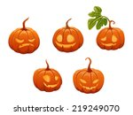 set of pumpkins | Shutterstock .eps vector #219249070