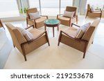 lounge  lobby area of a hotel ... | Shutterstock . vector #219253678