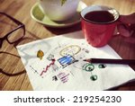 some concepts write down on... | Shutterstock . vector #219254230