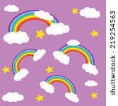colorful rainbow. a rainbow  ... | Shutterstock .eps vector #219254563