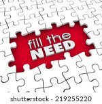 fill the need words in 3d... | Shutterstock . vector #219255220