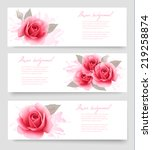 Three Banners With Pink Roses....