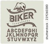 biker style dirty letters... | Shutterstock .eps vector #219260380