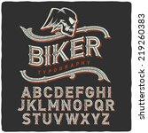 biker style dirty letters... | Shutterstock .eps vector #219260383