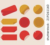 tag set | Shutterstock .eps vector #219261160