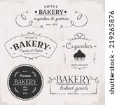 vintage bakery labels | Shutterstock .eps vector #219265876