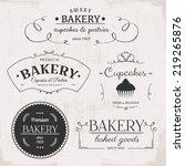 vintage bakery labels | Shutterstock .eps vector #219265876