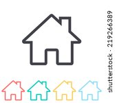 home icon | Shutterstock .eps vector #219266389