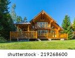Beautiful Modern Log House In...