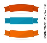 labels  tags  ribbons set in... | Shutterstock .eps vector #219269710