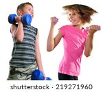isolated portrait of children... | Shutterstock . vector #219271960