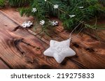 christmas ornament with pine...   Shutterstock . vector #219275833