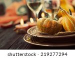 Autumn Table Setting With...