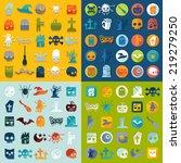 set of halloween icons | Shutterstock . vector #219279250