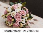 summer wedding bouquet of...   Shutterstock . vector #219280243