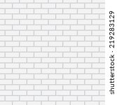 white brick wall | Shutterstock .eps vector #219283129