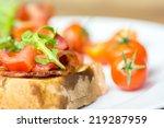 italian bruschetta sandwich... | Shutterstock . vector #219287959