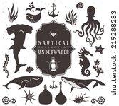 sea life  marine animals.... | Shutterstock .eps vector #219288283