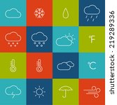 set weather icons.  | Shutterstock .eps vector #219289336