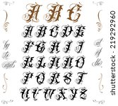 famous tattoo old english... | Shutterstock .eps vector #219292960