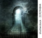 staircase leading to heaven or... | Shutterstock . vector #219294844