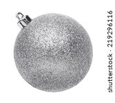 silvertmas ball isolated on... | Shutterstock . vector #219296116