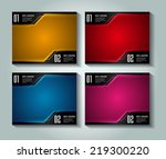 colorful modern text box... | Shutterstock .eps vector #219300220