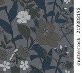 seamless floral pattern. | Shutterstock .eps vector #219303193