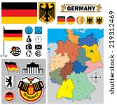 vector map of germany  with a... | Shutterstock .eps vector #219312469