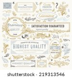 vintage vector design elements... | Shutterstock .eps vector #219313546