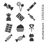 sweets and candies icons. | Shutterstock .eps vector #219315316