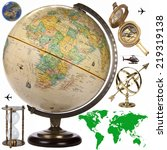Map  Globe And Travel Objects...