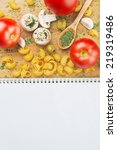 garlic parsley mushroom tomato... | Shutterstock . vector #219319486