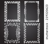 set of chalk painted frames on... | Shutterstock .eps vector #219320623
