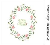 vector watercolor flowers...   Shutterstock .eps vector #219322528