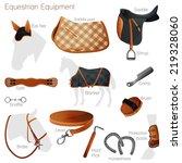 Set Of Equestrian Equipment Fo...
