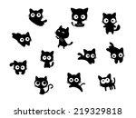 set of cats | Shutterstock .eps vector #219329818