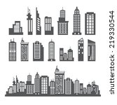 building collection | Shutterstock .eps vector #219330544