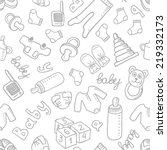 vector doodle seamless pattern... | Shutterstock .eps vector #219332173