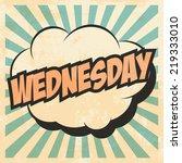 wednesday pop art  illustration ... | Shutterstock .eps vector #219333010