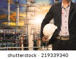 engineering man with white... | Shutterstock . vector #219339340